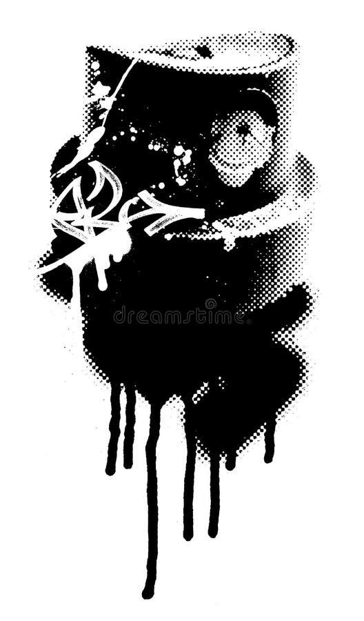 Tampão do aerossol do pulverizador com gotejamentos ilustração do vetor