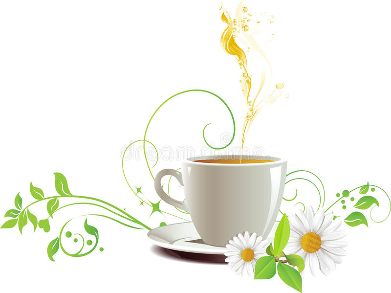Tampão do chá. ilustração stock