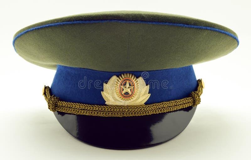 Tampão do oficial do exército do russo fotos de stock