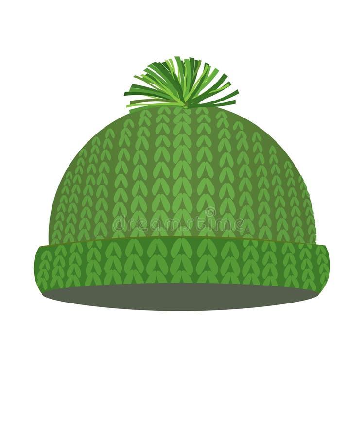 Tampão feito malha verde do inverno ilustração royalty free