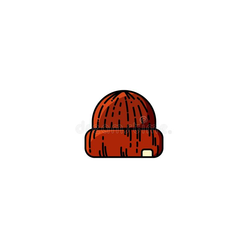 Tampão isolado moderno feito malha ocasional vermelho do vetor ilustração royalty free