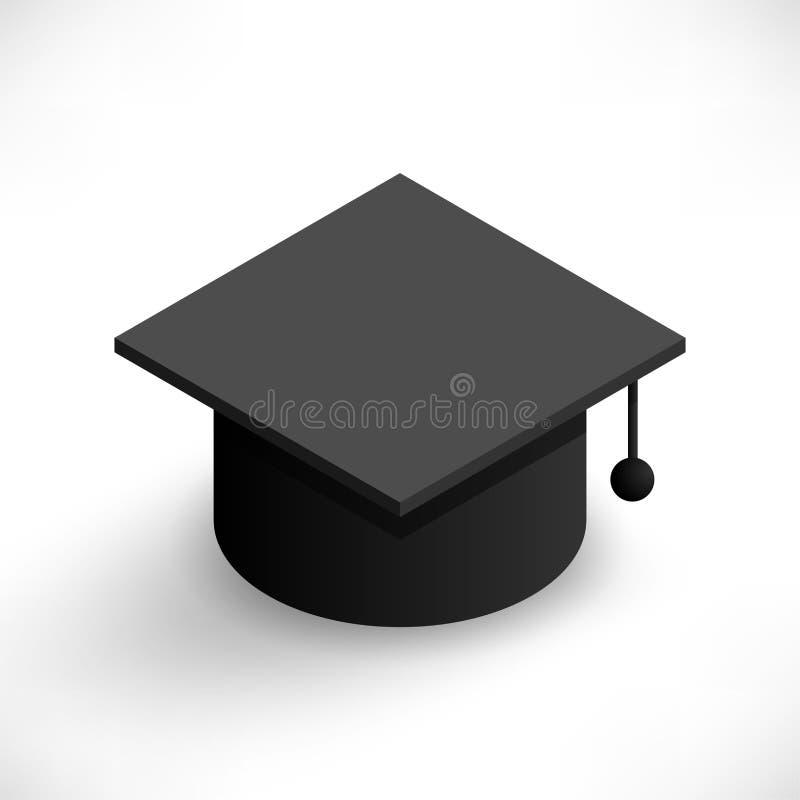 Tampão isométrico da graduação ilustração royalty free