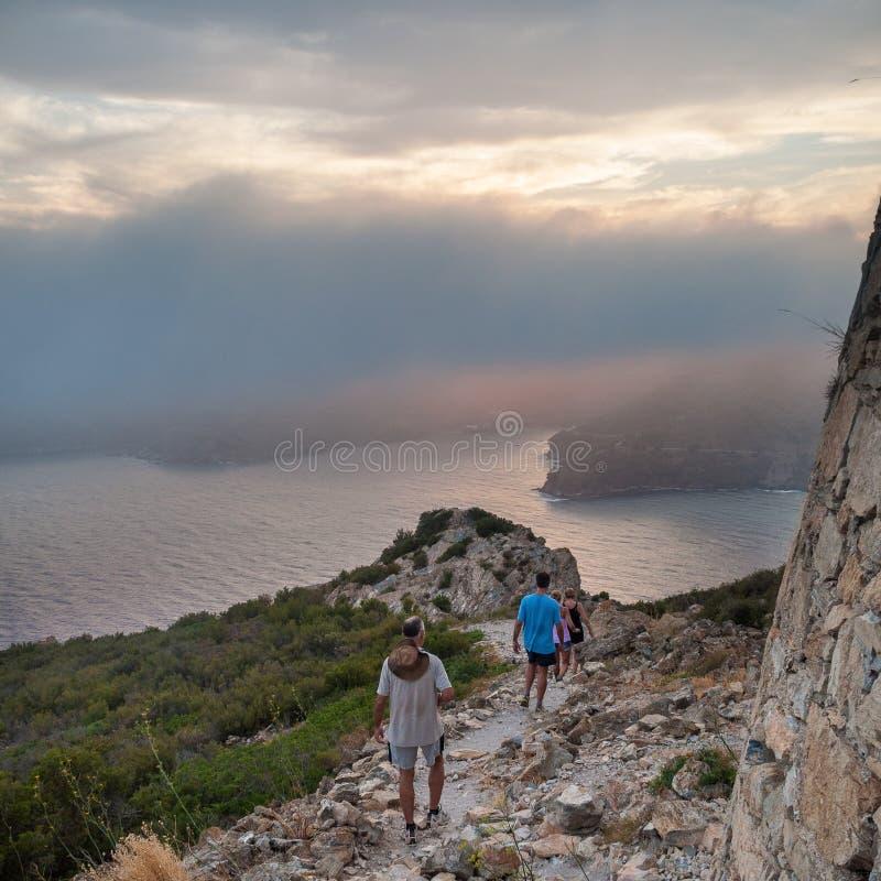 Tampão Norfeu, parque natural em Costa Brava catalonia imagem de stock