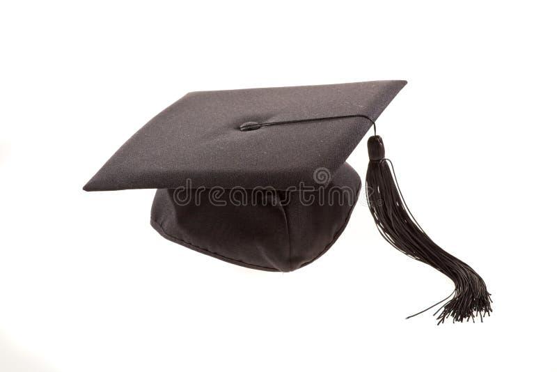 Tampão preto da graduação imagens de stock royalty free