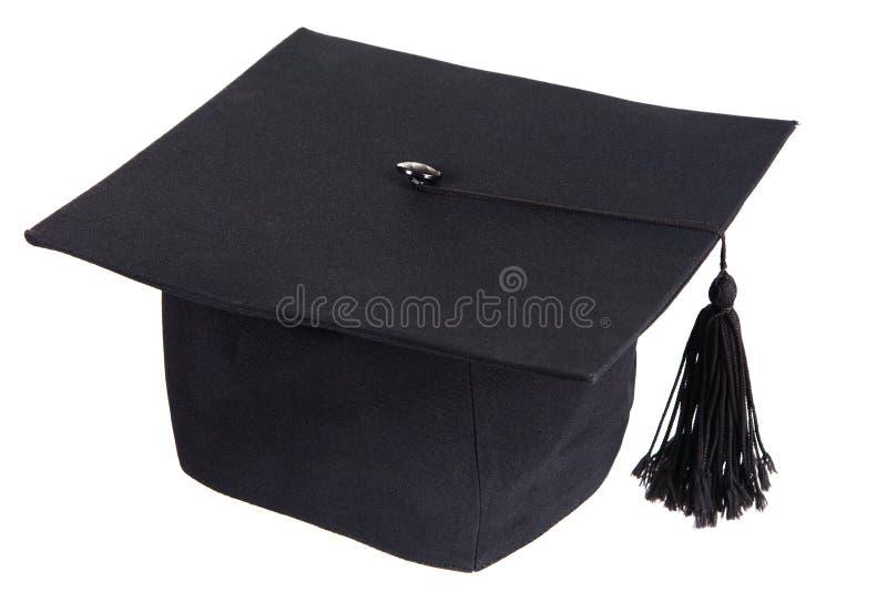Tampão preto da graduação imagens de stock