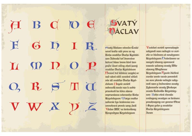 Tampões góticos - alfabeto ilustração stock