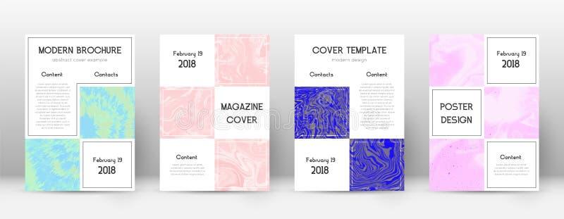 Tampa abstrata Molde proeminente do projeto Cartaz do negócio do mármore de Suminagashi Na moda proeminente ilustração royalty free