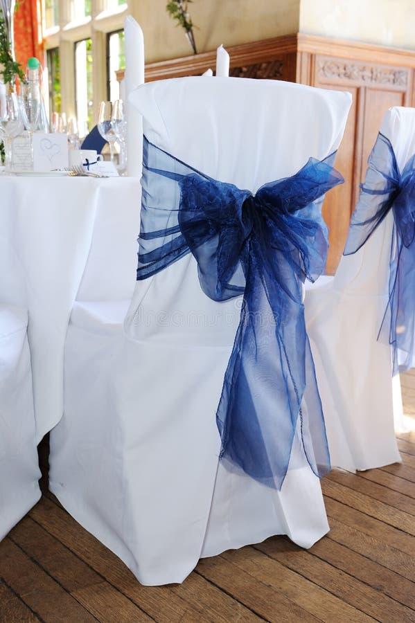 Tampa azul da cadeira fotos de stock