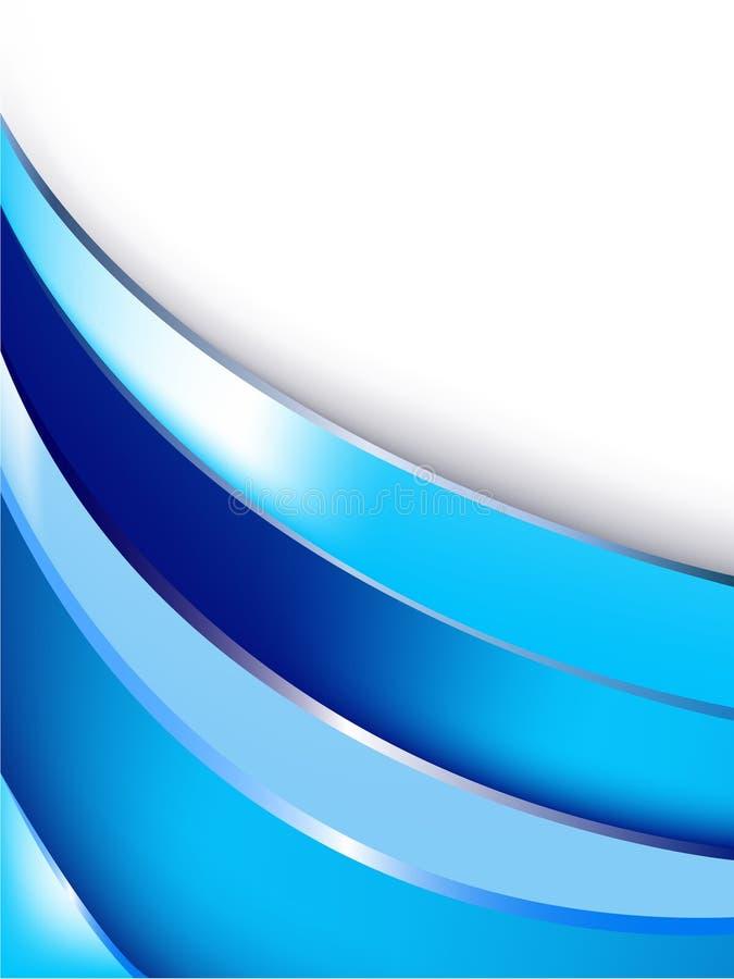 Tampa azul do relatório ilustração royalty free