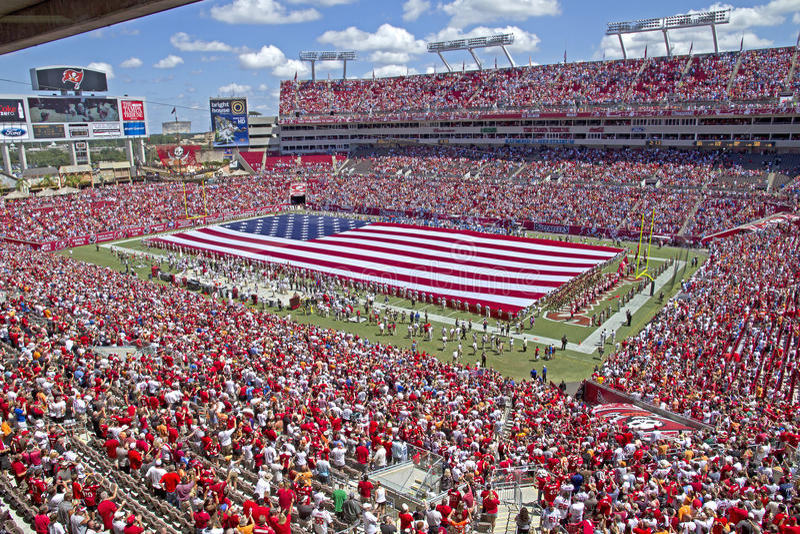 Tampa Bay contra Detroit foto de stock royalty free