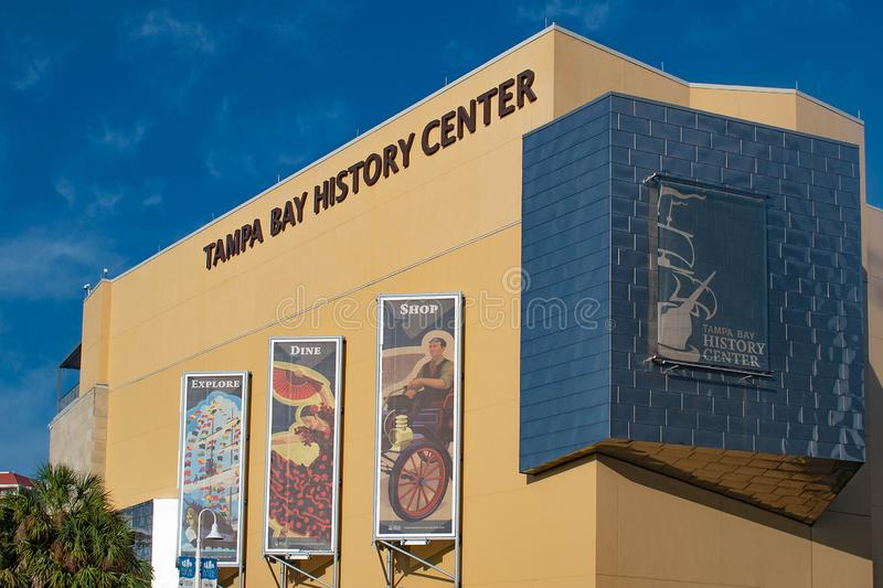 Tampa Bay History Center in downtown area 2. Tampa Bay, Florida. April 28, 2019 . Tampa Bay History Center in downtown area 2 stock image