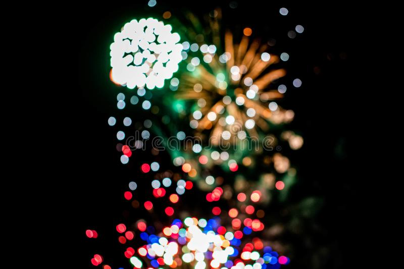 Colorful fireworks in Summer Nights 7 royalty free stock photos