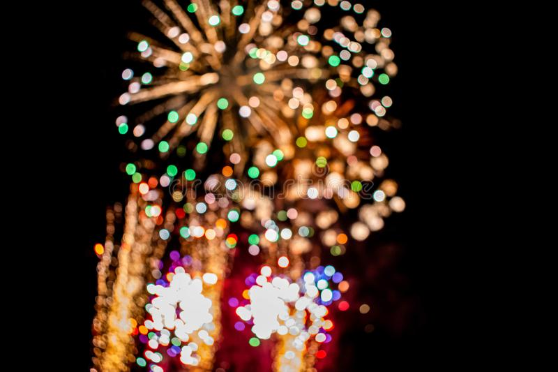 Colorful fireworks in Summer Nights 10. stock photos