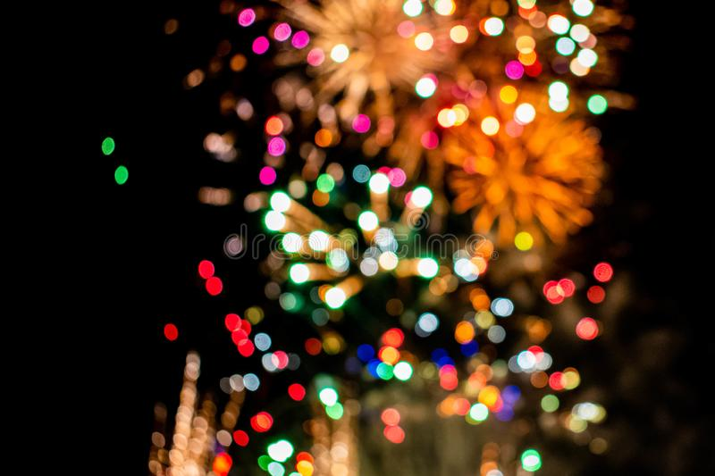 Colorful fireworks in Summer Nights 9 stock photography