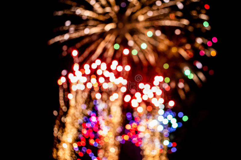 Colorful fireworks in Summer Nights 11 royalty free stock photography