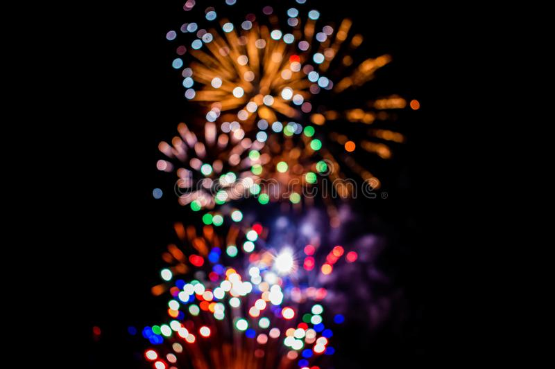 Colorful fireworks in Summer Nights 6 stock images