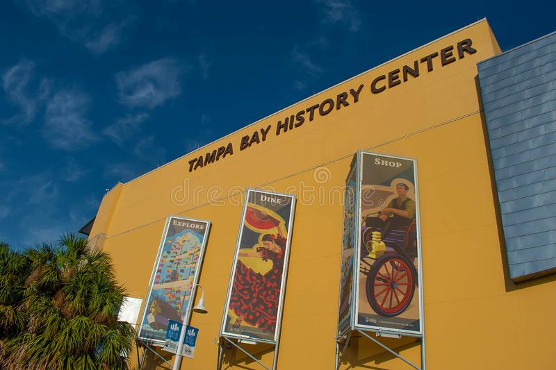 Tampa Bay History Center in downtown area 1. Tampa Bay, Florida. April 28, 2019 . Tampa Bay History Center in downtown area 1 stock images