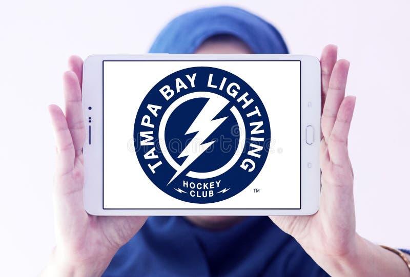 Tampa Bay Lightning zamraża drużyna hokejowa loga obrazy stock