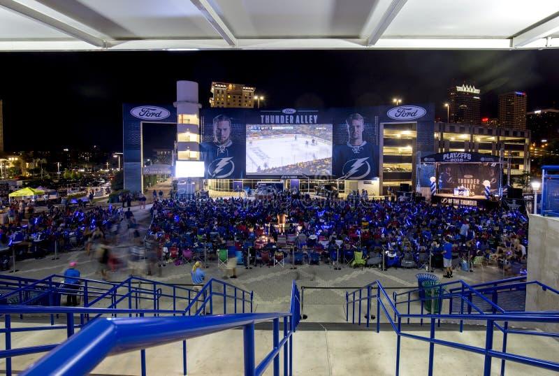 Tampa Bay Lightningslutspelhockey royaltyfria foton