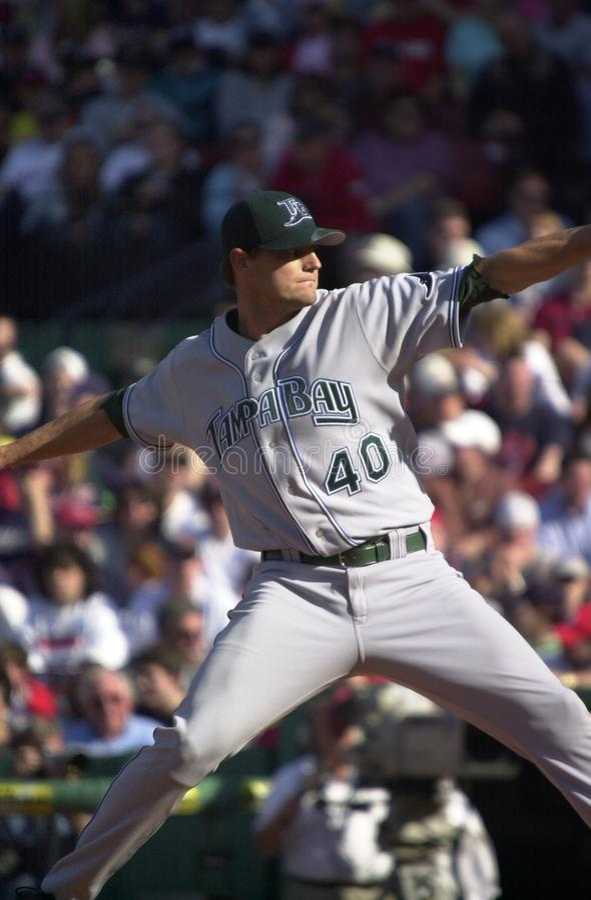 Doug Waechter, Tampa Bay Rays. Tampa Bay Rays pitcher Doug Waechter. Image taken from color slide stock image