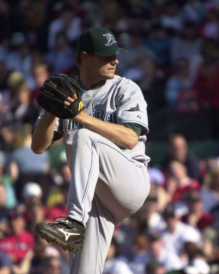 Doug Waechter, Tampa Bay Rays. Tampa Bay Rays pitcher Doug Waechter. Image taken from color slide stock photos