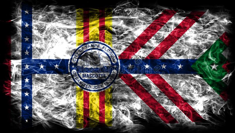 Tampa city smoke flag, Florida State, United States Of America.  royalty free stock photography