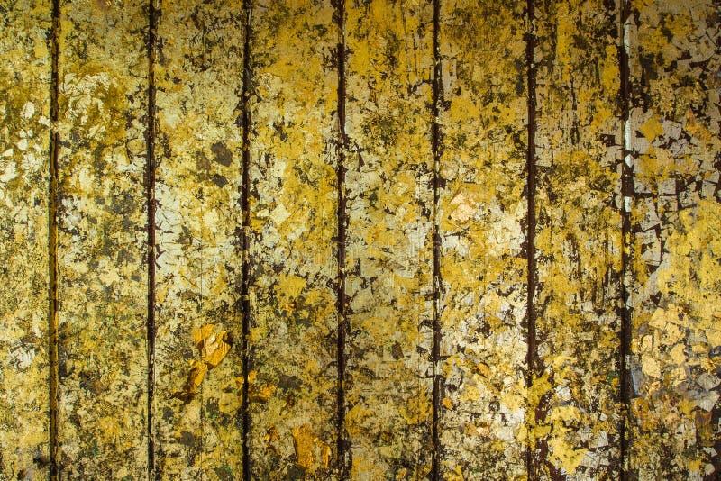 Tampa com folhas do ouro fotografia de stock