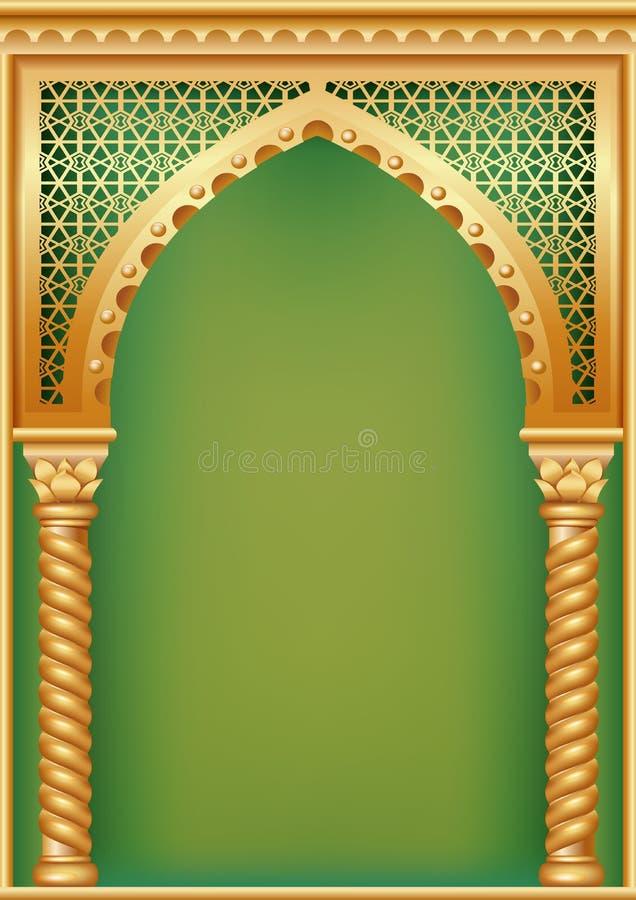 Tampa com o arco árabe ilustração stock