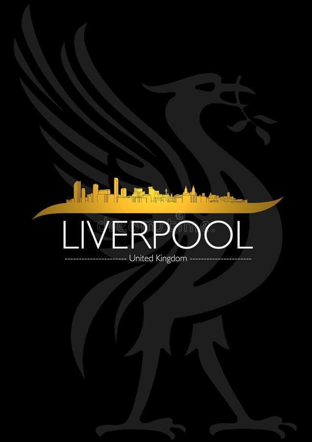 Tampa da skyline da cidade de Liverpool imagens de stock royalty free