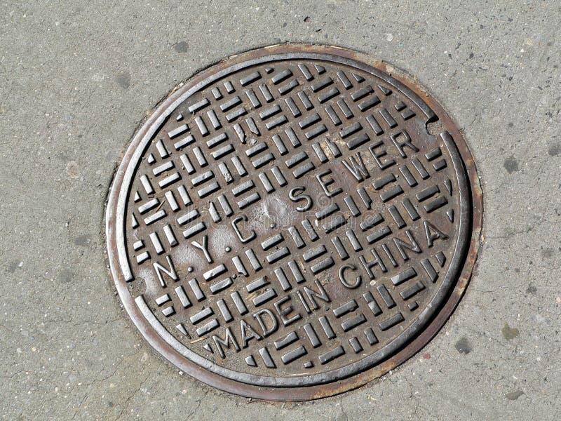 Download Tampa De Câmara De Visita Em New York City Imagem de Stock - Imagem de overseas, manhole: 102741