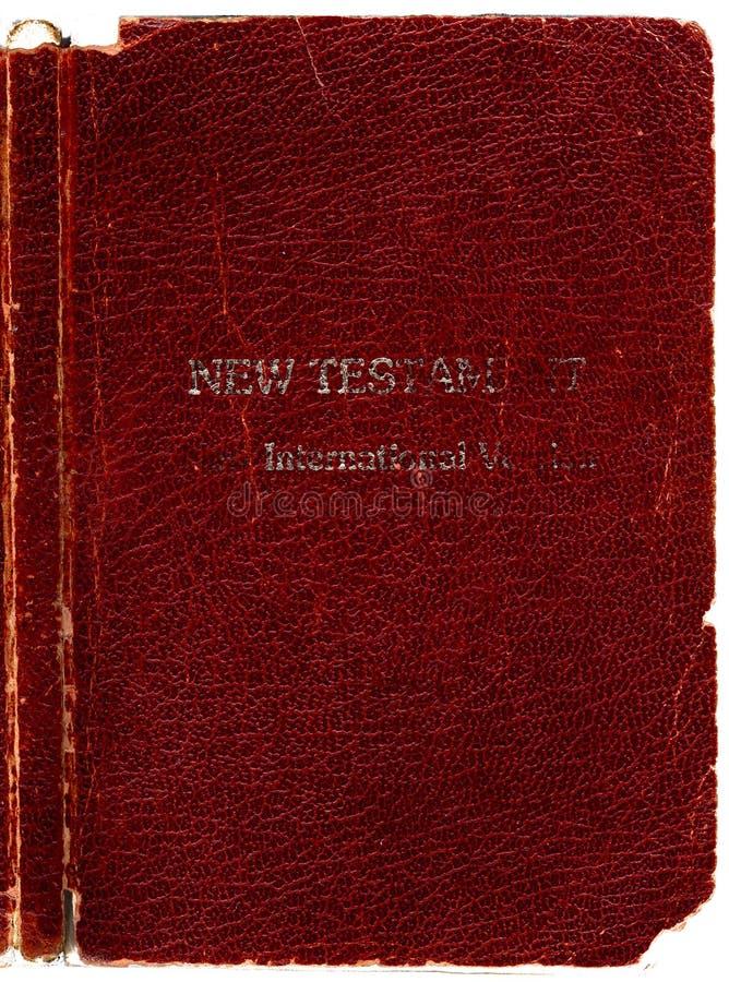 Tampa de couro velha da Bíblia foto de stock royalty free