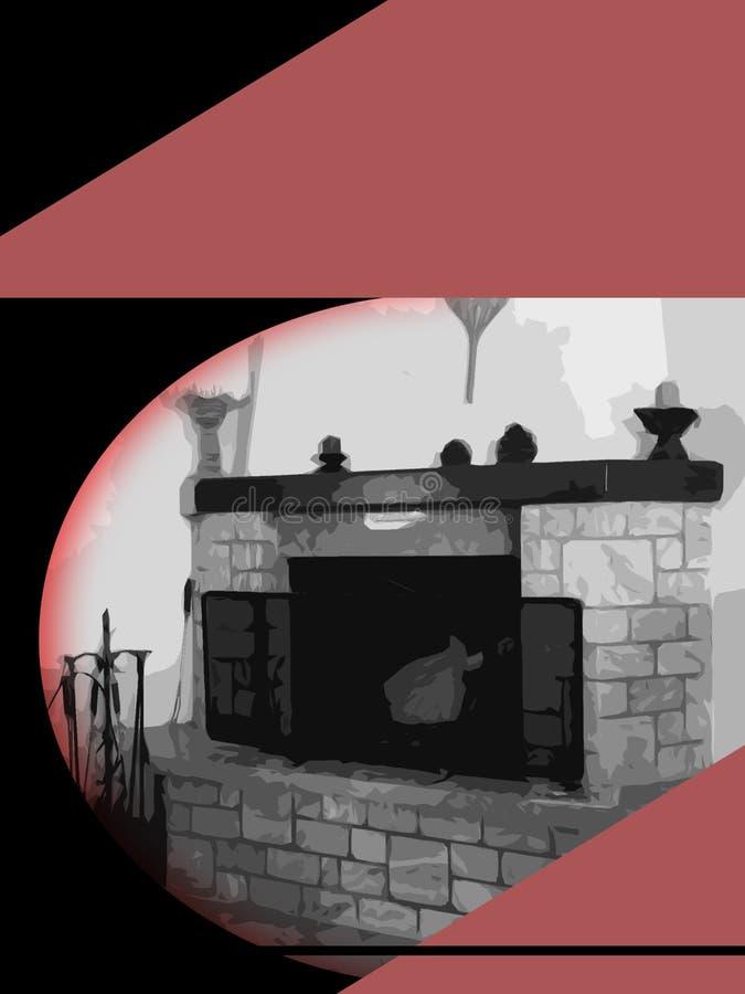 Tampa de Ebook com chaminé velha e atmosfera sombrio ilustração stock