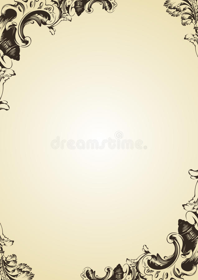Tampa de frame do vintage do vetor ilustração do vetor