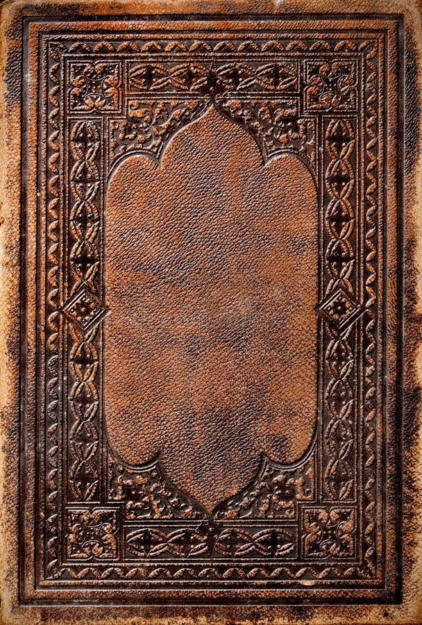 Tampa de livro antiga imagem de stock