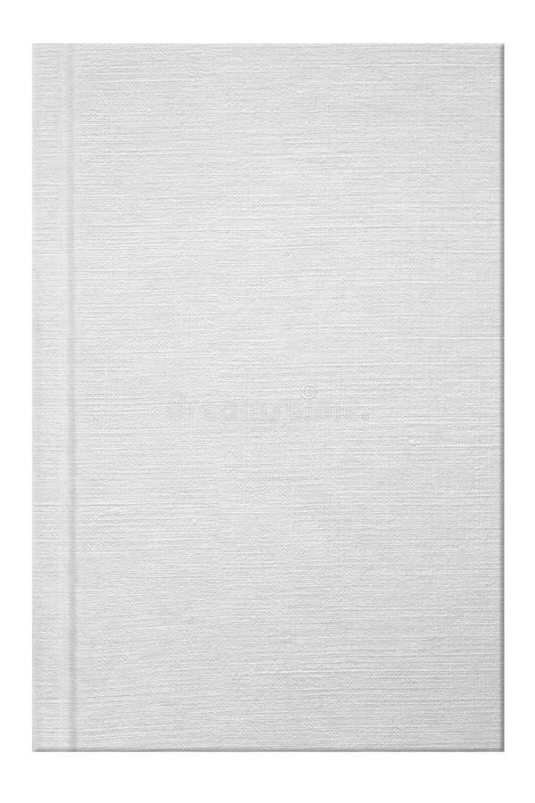 Tampa de livro branco fotografia de stock royalty free