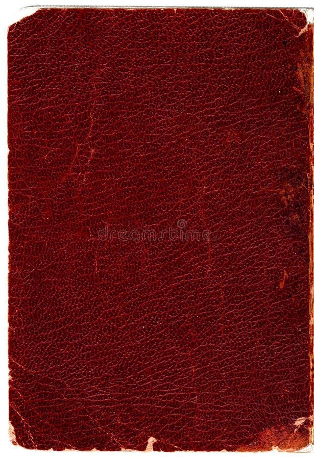 Tampa de livro de couro imagens de stock