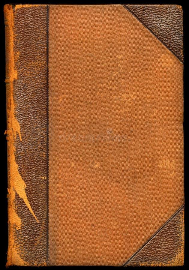 Tampa de livro de couro quebrada vintage fotos de stock