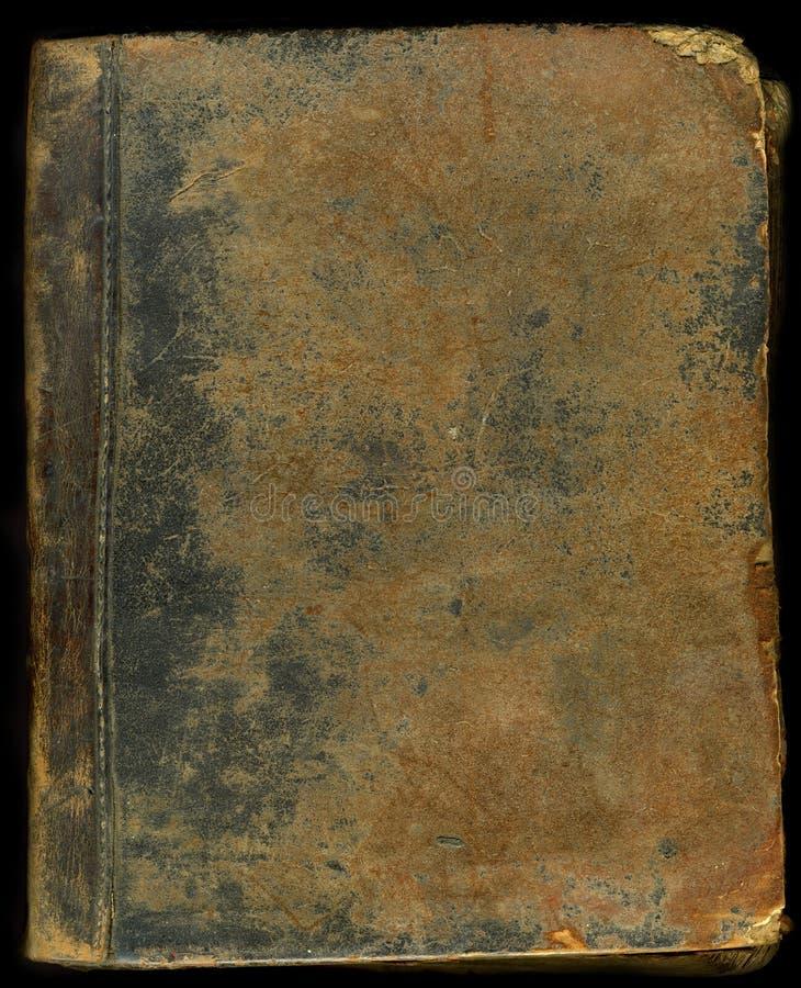 Tampa de livro de couro velha foto de stock