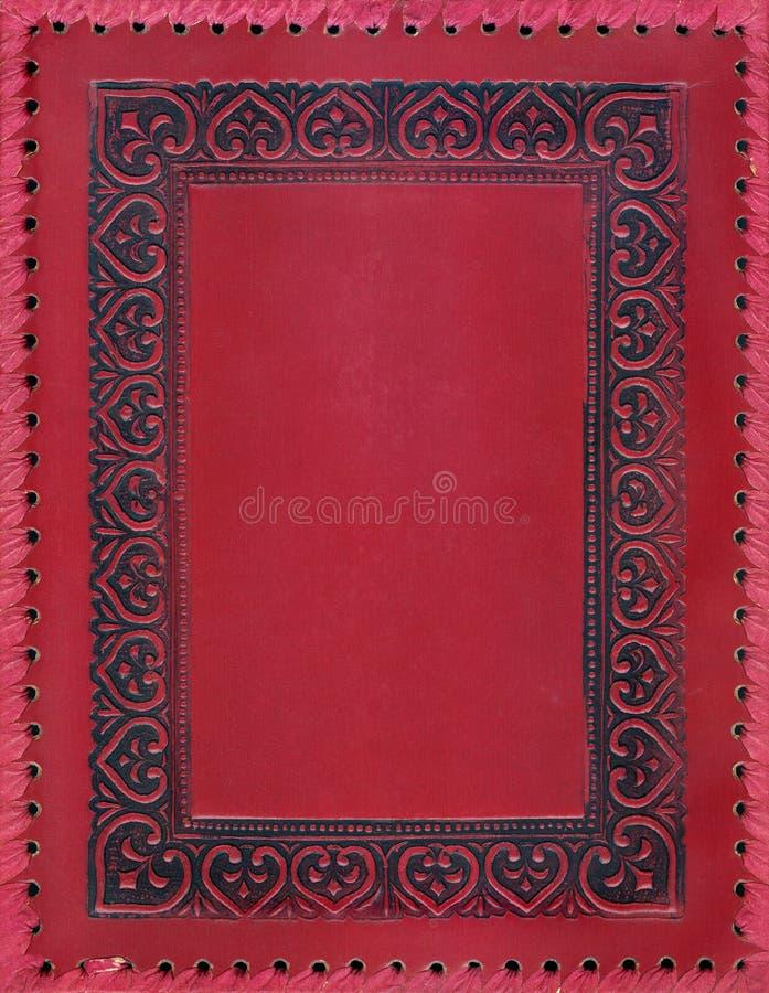 Tampa de livro do vintage no vermelho fotos de stock royalty free