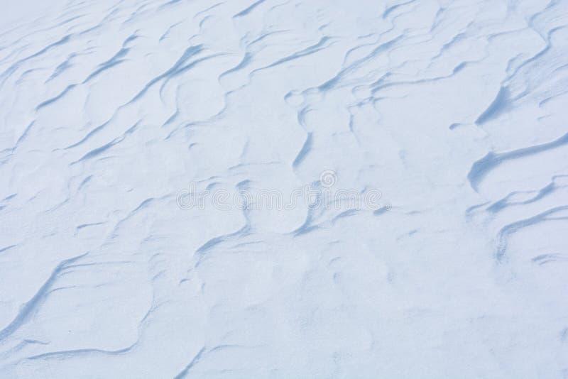 Tampa de neve como um fundo invernal imagem de stock