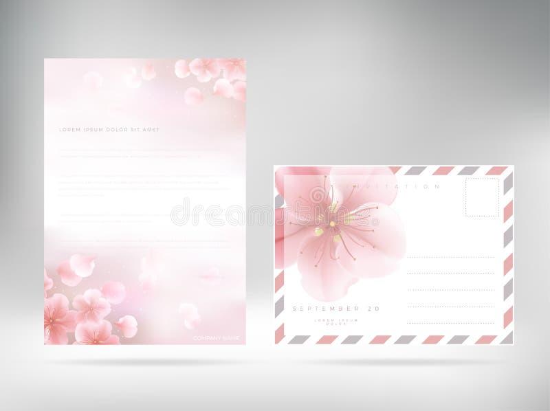 Tampa de papel floral do cabeçalho do molde do projeto da tampa ilustração royalty free