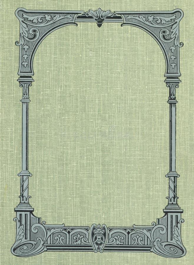 Tampa de um livro velho. ilustração royalty free