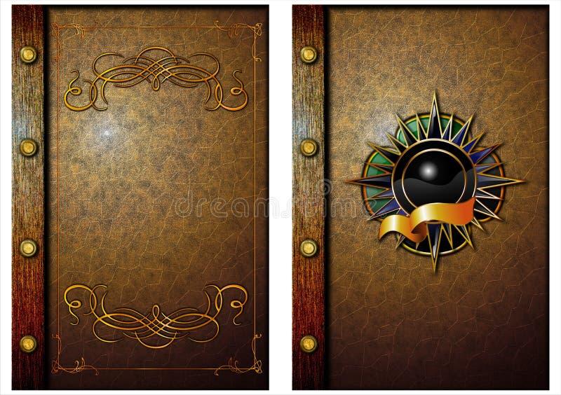 A tampa de um livro velho. 01 ilustração do vetor