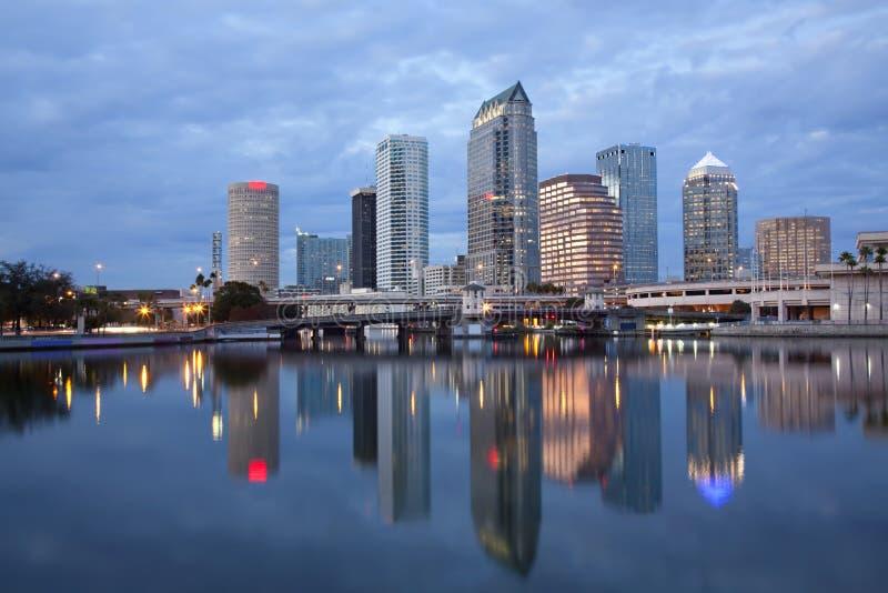 Tampa del centro, Florida fotografie stock libere da diritti