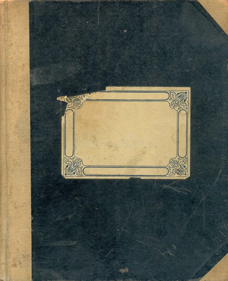 Tampa do caderno velho. imagens de stock