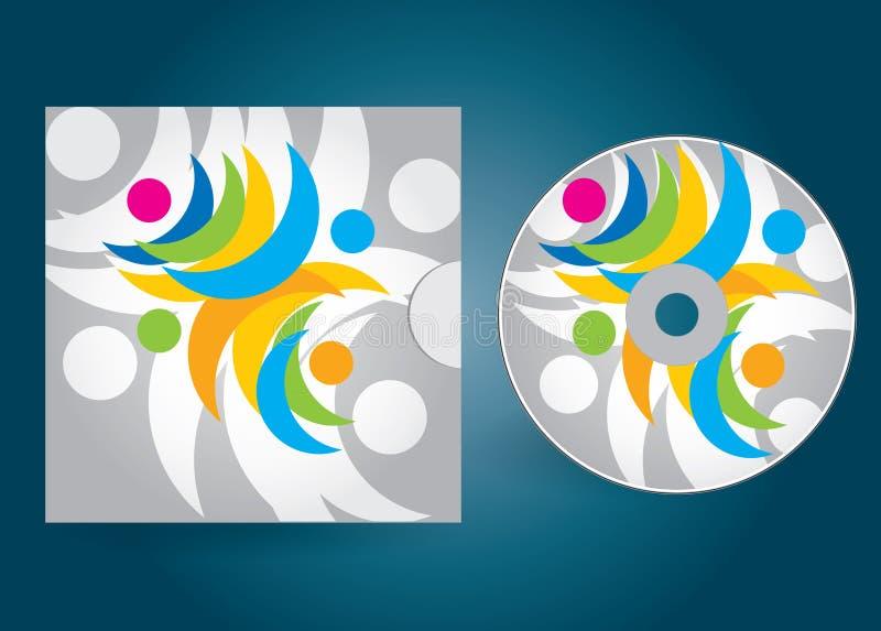 Tampa do CD ou do DVD ilustração royalty free