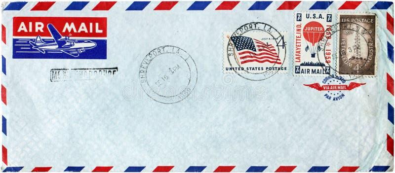 Tampa do correio aéreo dos EUA foto de stock royalty free