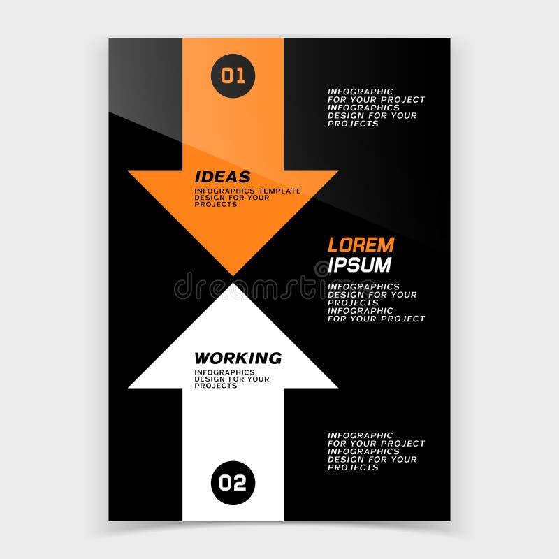 Tampa do folheto ou projeto da bandeira da Web com duas setas ilustração royalty free