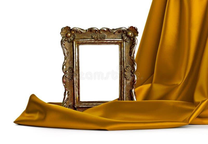 Tampa do frame de madeira e da seda fotos de stock