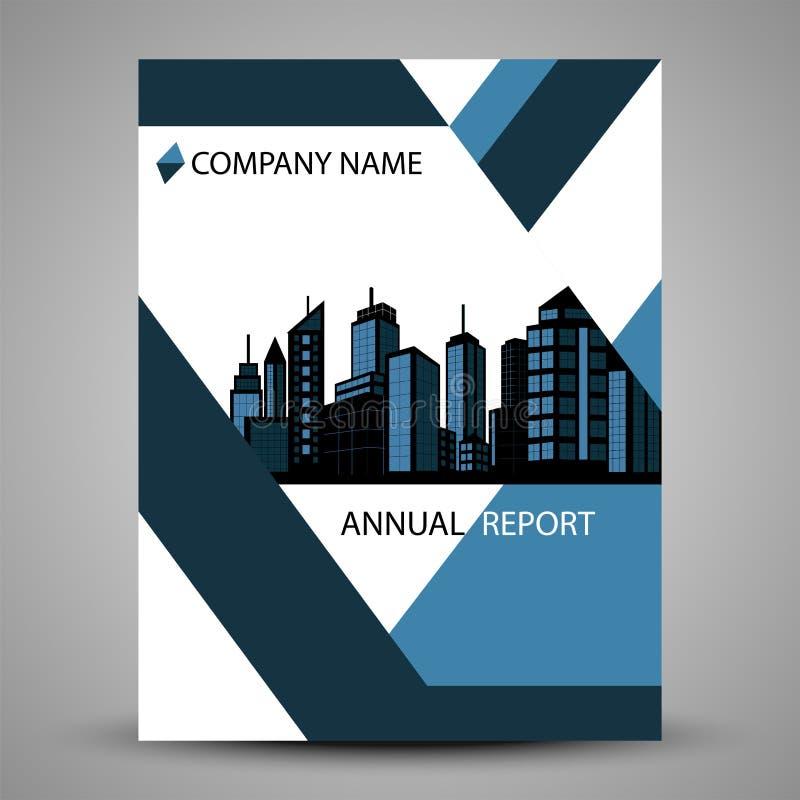 Tampa do informe anual no projeto abstrato ilustração stock